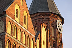 Cathedral in Kaliningrad, a fragment. Stock Photo