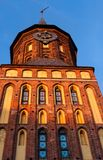 Cathedral, Kaliningrad. Front of Cathedral, Kaliningrad, West Russia, sunset Stock Photos