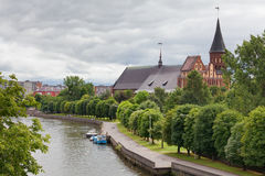 Cathedral. Kaliningrad, Russia stock photography