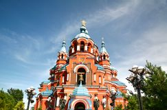 Cathedral  of the Kazan Icon of the Mother of God in irkutsk city, Russia Royalty Free Stock Photography