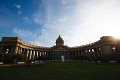Cathedral of the Kazan icon of the Mother of God, of St. Petersburg. Stock Photos