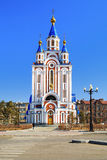 Cathedral in Khabarovsk Royalty Free Stock Photography