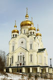 Cathedral in Khabarovsk, Russia stock photography