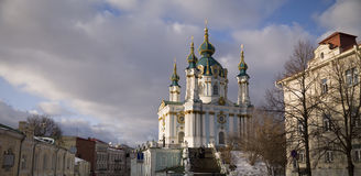 Cathedral in kiev Royalty Free Stock Photography