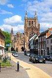 Cathedral and King Street, Hereford. Stock Photography