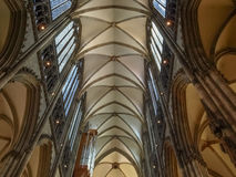 Cathedral in Koeln. KOELN, GERMANY - AUGUST 04, 2009: Interior view of Koelner Dom gothic cathedral church Stock Image