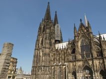 Cathedral in Koeln. Koelner Dom gothic cathedral church in Koeln, Germany Royalty Free Stock Photo