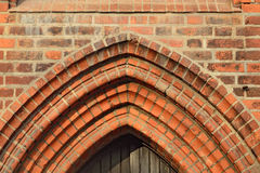 Cathedral of Koenigsberg. Fragment of Gothic architecture of the Stock Photo