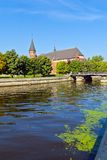 Cathedral of Koenigsberg on the Kneiphof island. Kaliningrad (until 1946 Koenigsberg), Russia. Koenigsberg Cathedral - Gothic temple of the 14th century. The royalty free stock photography
