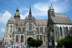 Cathedral in Kosice city. Royalty Free Stock Images