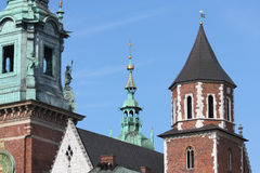 Cathedral in Krakow Stock Photography