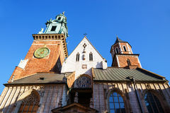 Cathedral in Krakow, Poland stock photography