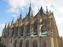 Cathedral in Kutna Hora Stock Photo