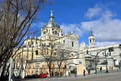 Cathedral La Almudena in Madrid Stock Photos