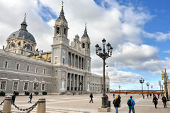 Cathedral La Almudena in Madrid Stock Photography