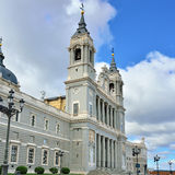 Cathedral La Almudena in Madrid Stock Image