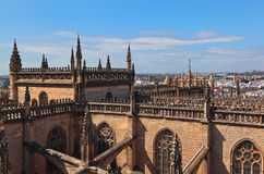 Cathedral La Giralda at Sevilla Spain Stock Photo