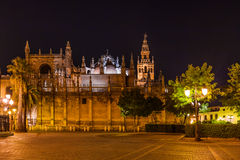 Cathedral La Giralda at Sevilla Spain Royalty Free Stock Photos