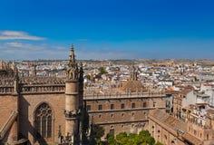 Cathedral La Giralda at Sevilla Spain Stock Images