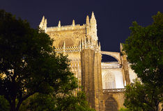 Cathedral La Giralda at Sevilla Spain Royalty Free Stock Photo
