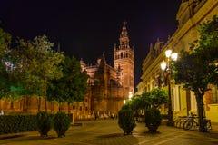 Cathedral La Giralda at Sevilla Spain royalty free stock photo