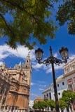 Cathedral La Giralda at Sevilla Spain Royalty Free Stock Photography