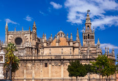 Cathedral La Giralda at Sevilla Spain Stock Photos