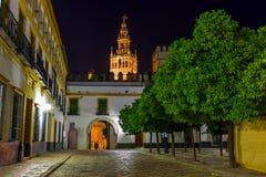 Cathedral La Giralda at Sevilla Spain Stock Photos