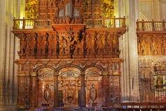 Cathedral La Giralda at Sevilla Spain Stock Image