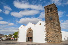 Cathedral in La Oliva Royalty Free Stock Photos