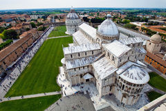 Cathedral La piazza del Suomo in Pisa, Italy Stock Image