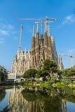 The Cathedral of La Sagrada Familia by the architect Antonio Gaudi, Catalonia, Barcelona Spain.  stock photos