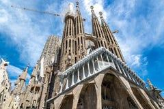 The Cathedral of La Sagrada Familia by the architect Antonio Gaudi, Catalonia, Barcelona Spain - May 15, 2018. royalty free stock photography