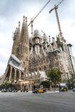 The Cathedral of La Sagrada Familia by the architect Antonio Gaudi, Catalonia, Barcelona Spain - May 13, 2018. royalty free stock photography