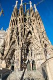The Cathedral of La Sagrada Familia by the architect Antonio Gaudi, Catalonia, Barcelona Spain - May 14, 2018. royalty free stock photos