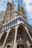 The Cathedral of La Sagrada Familia by the architect Antonio Gaudi, Catalonia, Barcelona Spain - May 14, 2018. stock photography