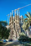 The Cathedral of La Sagrada Familia by the architect Antonio Gaudi, Catalonia, Barcelona Spain - May 14, 2018. stock photo