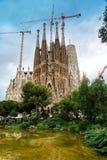 The Cathedral of La Sagrada Familia by the architect Antonio Gaudi, Catalonia, Barcelona Spain - May 13, 2018 stock photos