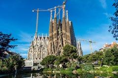 The Cathedral of La Sagrada Familia by the architect Antonio Gaudi, Catalonia, Barcelona Spain - May 14, 2018.  stock images