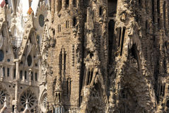 Cathedral of La Sagrada Familia, Barcelona, Spain. Royalty Free Stock Images
