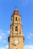 Cathedral of La Seo, in the famous Plaza del Pilar, Zaragoza Royalty Free Stock Photos