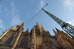 Cathedral (La Seu) of Barcelona, Spain Royalty Free Stock Images