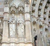 Cathedral (La Seu) of Barcelona, Spain Stock Photos