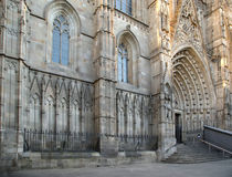 Cathedral (La Seu) of Barcelona, ​​Spain Stock Images