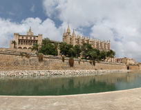 Cathedral La Seu In Palma De Mallorca Stock Image
