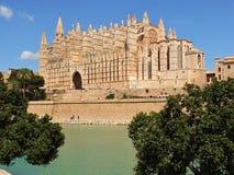Cathedral of la Seu Mallorca. At Palma de Mallorca, Balearic islands in Spain royalty free stock image
