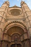 Cathedral La Seu in Palma de Mallorca. Detail of Cathedral La Seu in Palma de Mallorca Royalty Free Stock Photos