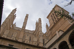 Cathedral La Seu in Palma de Mallorca. Detail of Cathedral La Seu in Palma de Mallorca Stock Image