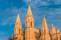 Cathedral La Seu Palma de Mallorca Old Architectural Christian Church Stock Image