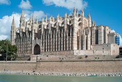 Cathedral La Seu in Palma de Mallorca royalty free stock photos